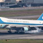 Air Force One Landing at Iwakuni, Japan