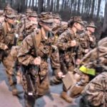 Female Marine Recruits 5K Conditioning Hike @ Parris Island Boot Camp