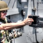 Sailors Engage Small Boat With .50 Caliber Machine Gun
