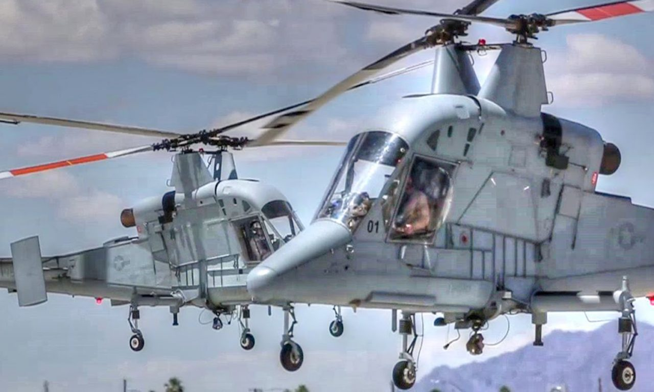 Unique Intermeshing-Rotor Helicopter Kaman K-MAX Landing   AIIRSOURCE Army Helicopters In Action