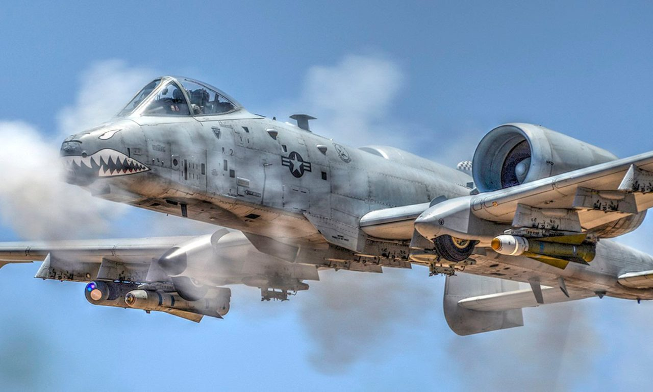 A 10 Ground Attack Aircraft In Action Strafing Runs