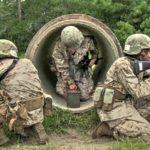 Female Marine Recruits Undergoing The Boot Camp Crucible