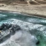 US Military Hovercraft LCAC & Assault Amphibious Vehicle Beach Landing