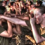 Women Marine Recruits Martial Arts Training