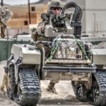 US Marines Futuristic Combat Robots In Action