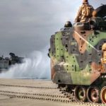 US Military Amphibious Assault Vehicle & Hovercraft In Combat Readiness Evaluation