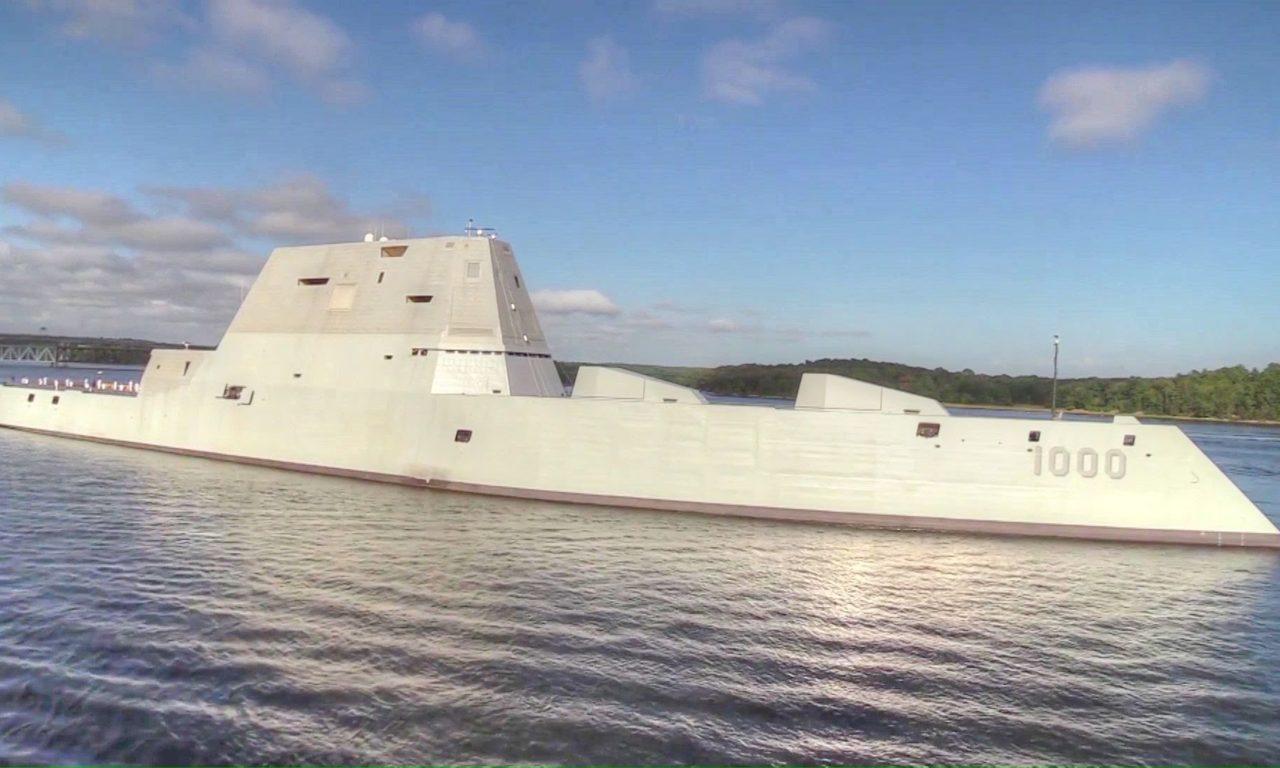 PCU Zumwalt (DDG-1000) Transits Channel & Life Aboard US Navy Stealth Destroyer USS Zumwalt | AIIRSOURCE