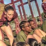Female Marine Recruits Daily Morning Physical Training