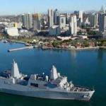 Navy's Newest High-tech Amphibious Ship USS Murtha Arrives at Naval Base San Diego