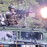 U.S, Romanian & Latvian Military In Force-On-Force Training