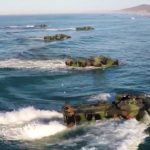 Beach Landing in Amphibious Assault Vehicles