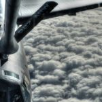 KC-135 Stratotanker Mid Air Refueling With B-52 Bombers
