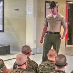 Parris Island Recruits Meet Marine Corps Drill Instructors