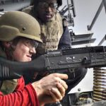 Sailors Fire M240 & M2 Machine Guns On Board USS Ronald Reagan