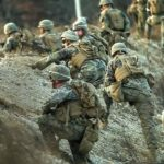 US Marines Conduct Platoon Assault Range in Korea