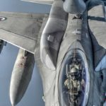 USAF KC-135 Refuels UAE F-16 Block 60 Desert Falcons