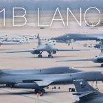 B-1B Lancer Strategic Bomber Afterburner Takeoff From Dyess Air Force Base