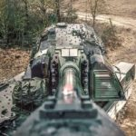 PzH 2000 Self-Propelled Howitzer Takes A Selfie Before Firing Round Down Range
