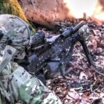 Soldiers Engage Enemy Fire During Realistic Military Exercise