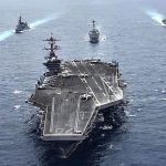 Aircraft Carrier USS Carl Vinson & Japanese Destroyers Sail Together In A Show Of Force