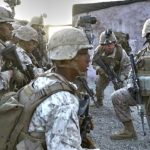 US Marines Assaulting And Clearing A Mock Middle Eastern Village