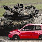60-Ton Leopard 2 Tanks Flatten VWs Like Metal Pancakes