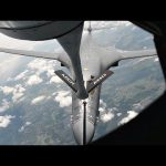 KC-135 Refueling B-1B Over Latvia