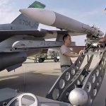 USAF F-16 Pilots And Maintainers Readying Fighter Aircraft For Takeoff