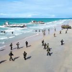 Australian Troops Conduct Beach Landing During Talisman Saber Joint Military Exercises