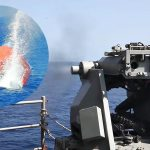 "US Navy Warship Gunnery Shoot: Live Fire At Giant ""Killer Tomato"" Target Balloon"