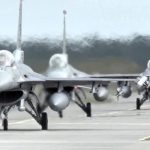USAF F-16 Fighters Roar Into Action And Take Off From Poland