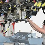 "B-52 Conventional Rotary Launcher (CRL) Loading – Bomber Gains New ""Smart"" Weapons Capability"