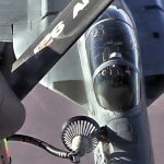 Expeditionary Air Refueling Squadron KC-135 Stratotanker Provides Fuel For F-18s