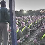 Marine Corps Recruits Undergoing Initial Strength Test