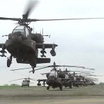 U.S. Army Helicopters Take Off In Belgium For Operation Atlantic Resolve